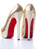 Women's Shoes With Gold Sequins
