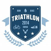 Triathlon Badge Emblem Design