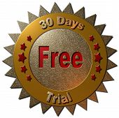 30 days free trial (gold lettering)