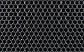 Steel Or Metal Textured Pattern With Hexagonal Cells
