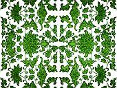 Green Leaf Damask