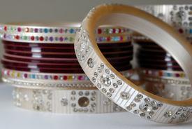 foto of dulhan  - A handful of Colorful Bridal Ornament Bangles  - JPG