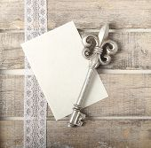 Silver Key Diary Greeting Card