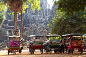 Tuk tuks In Angkor Wat
