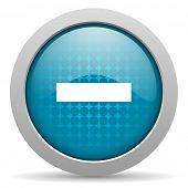 minus blue circle web glossy icon