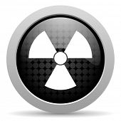 radiation black circle web glossy icon