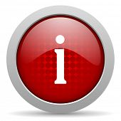 information red circle web glossy icon