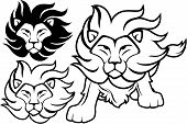 Lion isolated clipart