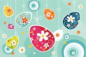 stock photo of easter card  - vector illustration of a cute decorative easter eggs - JPG