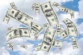 100 Dollar Bill Shower