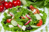 Salad With Tomatoes And Cucumbers