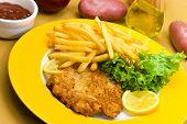Dish, Meal, Chop, Veal, Diet, Deep, Pork, Junk, Cook, Menu, Loin, Fork, Food, Meat, Roast, Chips, Pl poster