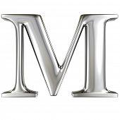 Metal alphabet symbol - M