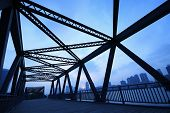 pic of girder  - Steel structure bridge close - JPG