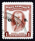 Postage Stamp Philippines 1953 Manuel L. Quezon