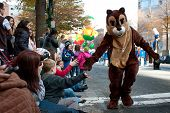 Chipmunk Character Entertains Crowd At Atlanta Christmas Parade