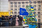 Meeting For European Integration In Center Of Kiev