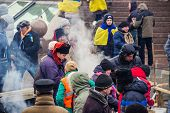 People On Maidan In Kiev