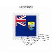 Saint Helena Flag Postage Stamp.