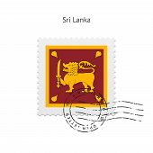 Sri Lanka Flag Postage Stamp.