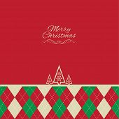 Christmas tree background with argyle pattern