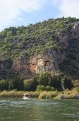 image of dalyan  - View from the rock tombs of Dalyan and river Turkey Mugla - JPG