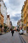 Masaryka street of Karlsbad  Karlovy Vary