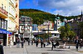 Stara Louka street of Karlsbad  Karlovy Vary