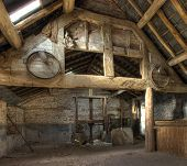 stock photo of hereford  - Stone and timber - JPG