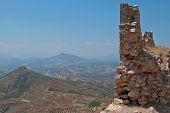 The ruins of a precipice.