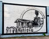 Route 66: Stroud, Oklahoma railroad mural