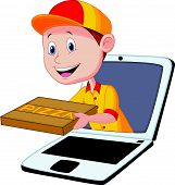 Cartoon Pizza delivery online