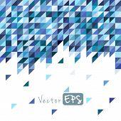Geometric mosaic pattern from blue triangle