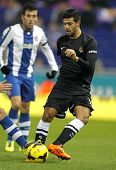 BARCELONA - NOV, 30: Carlos Vela of Real Sociedad during a Spanish League match against RCD Espanyol