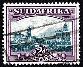 Postage Stamp South Africa 1945 Government Buildings, Pretoria