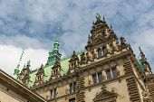 Detail Of The Facade Of The Famous Rathaus (city Hall) In Hamburg, Germany