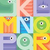 Monster Font J K L M N O P Q R