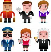 stock photo of porter  - People and professional occupation icons - JPG