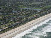 Aerial Of Beach Neighborhood