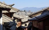 Ancient roof in Lijiang old town, Yunnan China