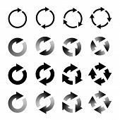 Rotating Arrows Set. Refresh, Reload, Recycle