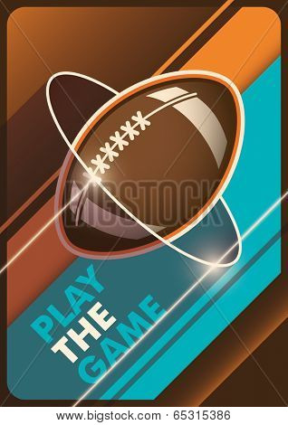 Modern american football poster. Vector illustration.