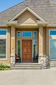 image of brownstone  - A nice entrance of a luxury house - JPG