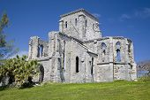 The Gothic style Unfinished Church in St. George's , Bermuda.