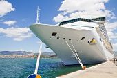 image of cruise ship caribbean  - a view of a beautiful Cruise Ship - JPG
