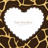 Giraffe Print Heart Frame