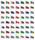 World Flags Set 3 of 4 - M to S - set of flags in alphabetical order from Maldives to Slovenia