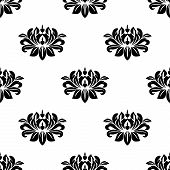 Dainty floral damask style fabric pattern