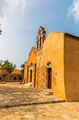 Church In Small Cretan Village Kavros In Crete  Island, Greece. Travel Background