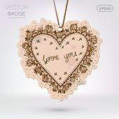 Vintage styled frame with love confession.